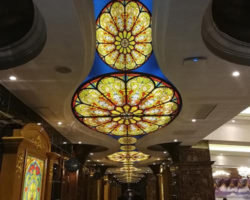 酒店UV软膜天花